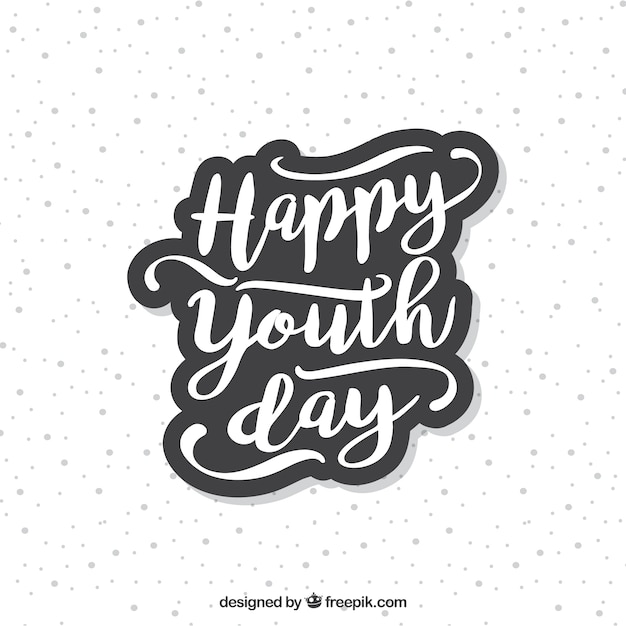 Youth day lettering  Free Vector