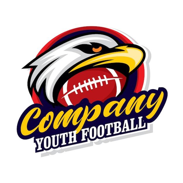 Логотип молодежного футбола, спортивный значок Premium векторы