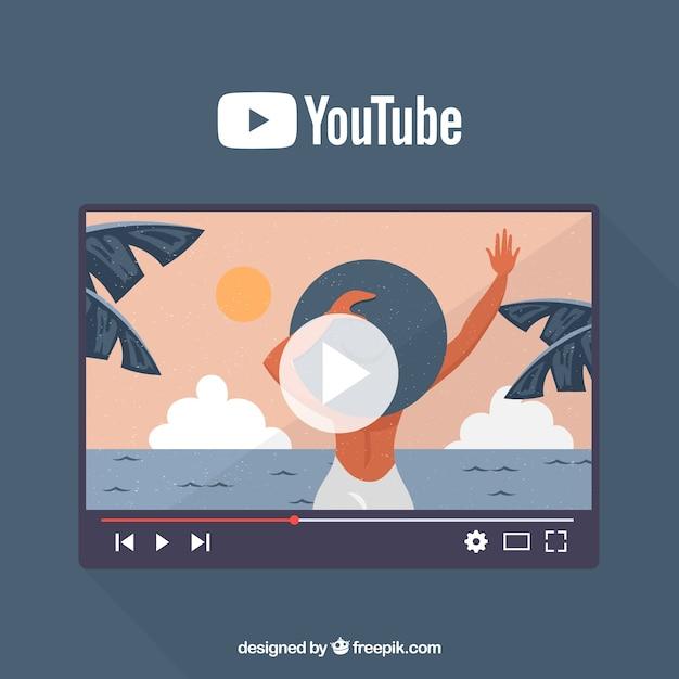 Youtubeのコンセプト 無料ベクター