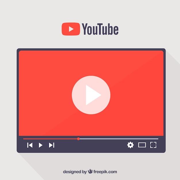 Youtube concept Free Vector