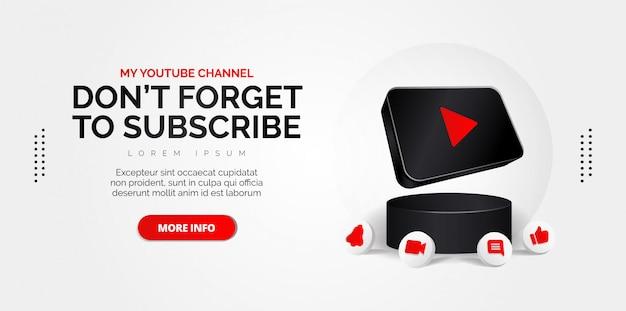 Значок youtube абстрактные концептуальные иллюстрации, изолированных на белом. Premium векторы