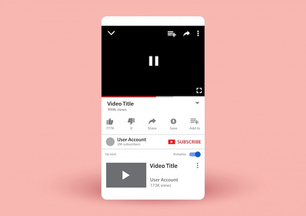 Youtube video play Vector | Premium Download