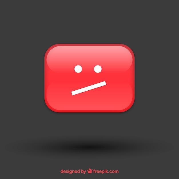 Сообщение об ошибке youtube с плоской конструкцией Бесплатные векторы