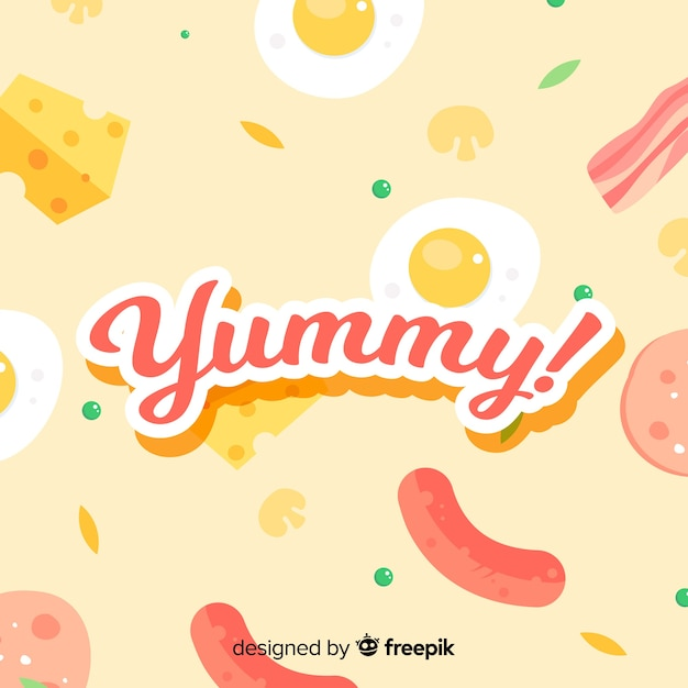Yummy background Free Vector