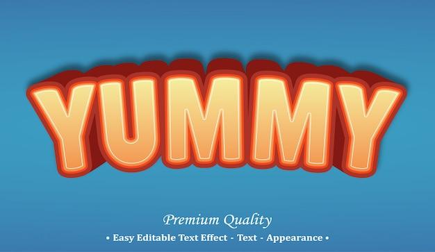 맛있는 글꼴 스타일 효과 프리미엄 벡터