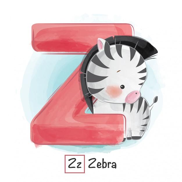 アルファベットの動物 -  z Premiumベクター