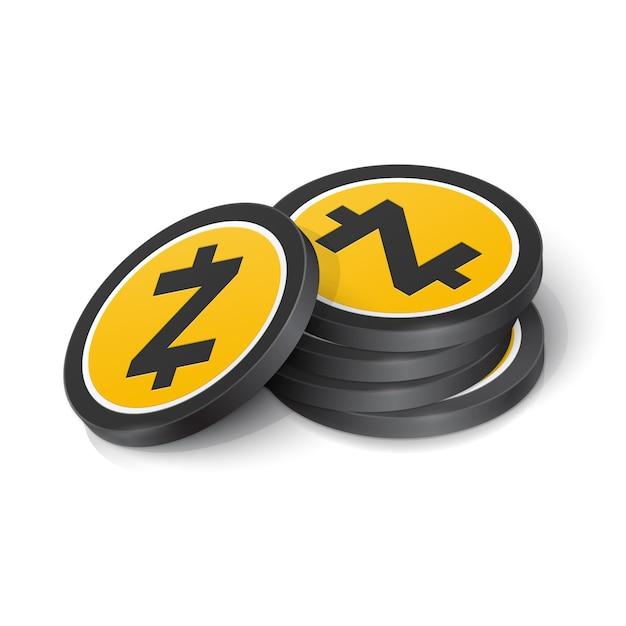 Zcash cryptocurrency tokens Premium Vector