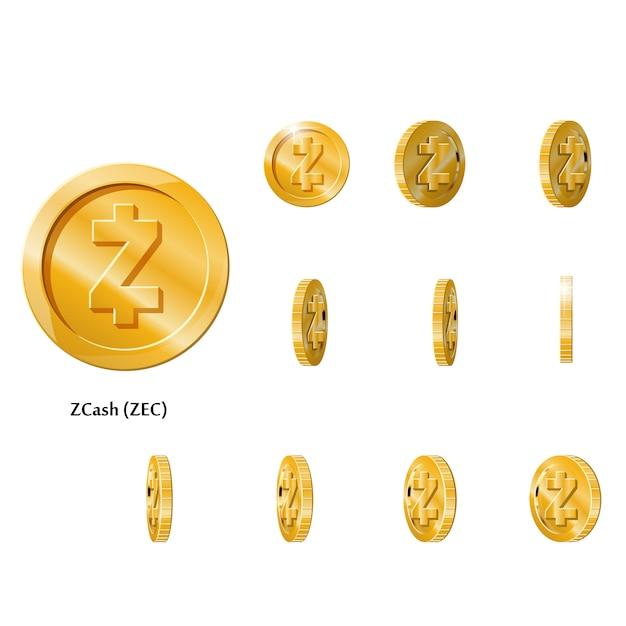 ゴールドローテーションzcashコイン Premiumベクター