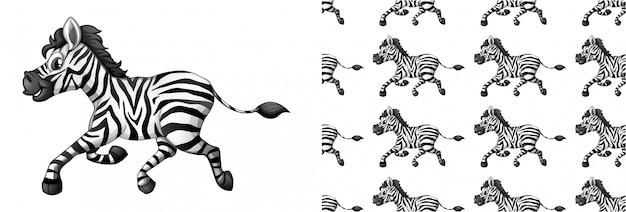 Cartone animato zebra animal pattern Vettore gratuito