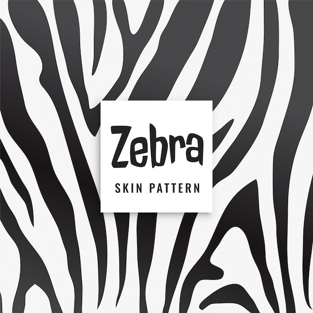 Zebra print pattern in black and white Free Vector