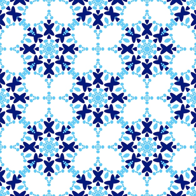 Zellige tile pattern seamless Premium Vector