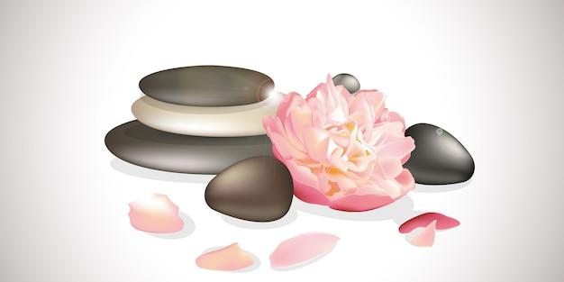 Zen flower illustration Premium Vector