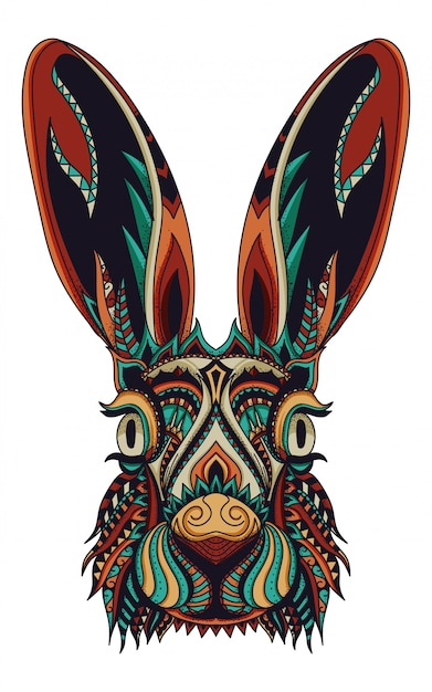 Zentangle bunny vector illustration Premium Vector