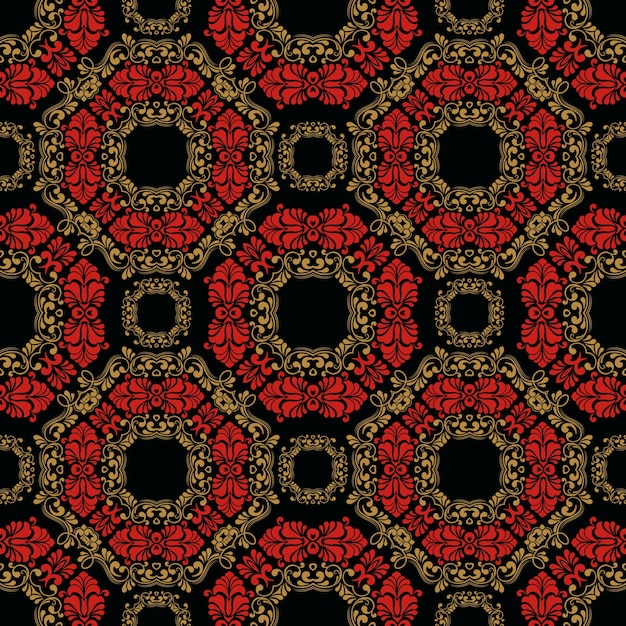 Zentangle styled geometric ornament pattern background Free Vector