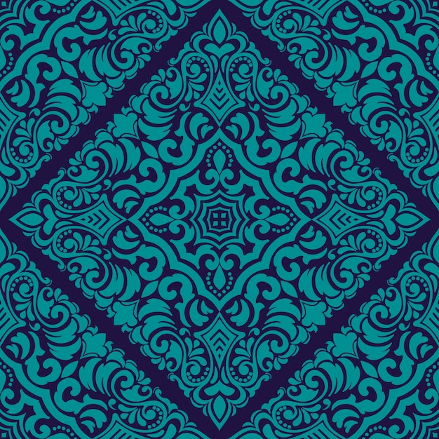 Zentangle styled geometric ornament pattern element. orient traditional ornament. Free Vector