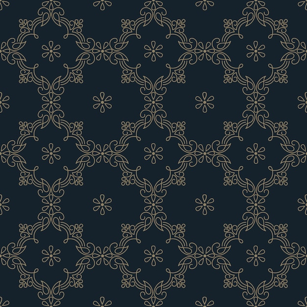 Элемент узора с геометрическим орнаментом в стиле zentangle Бесплатные векторы