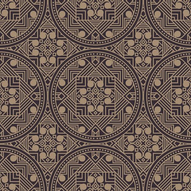 Zentangle стиль геометрический рисунок Бесплатные векторы