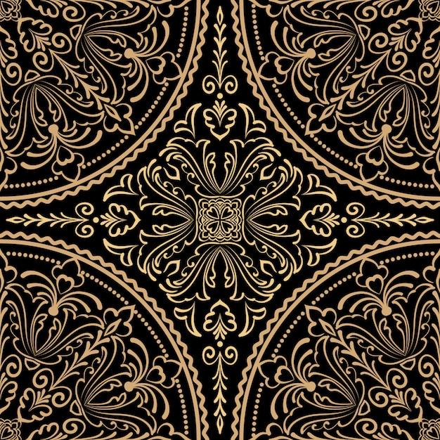 Zentangleスタイルの装飾パターン 無料ベクター