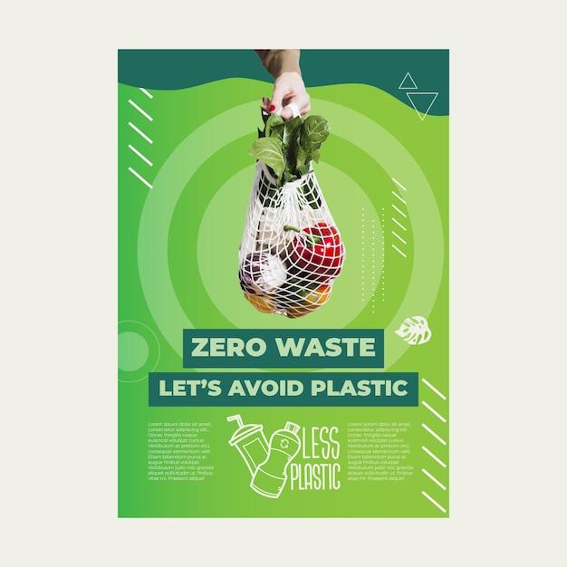 Zero waste flyer Free Vector