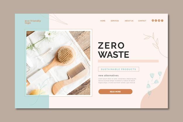 Zero waste landing page Free Vector