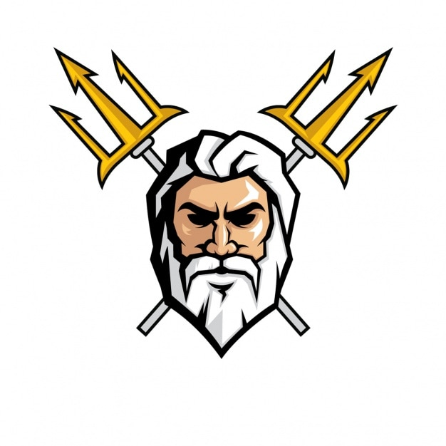 Zeus face design Vector | Free Download