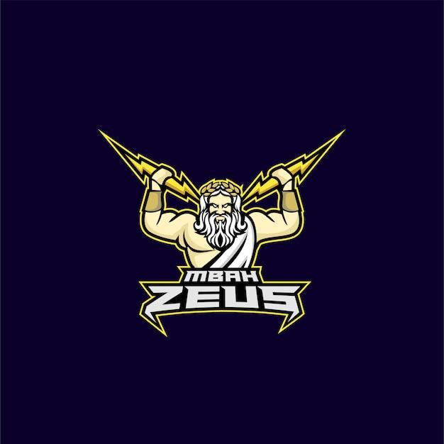 Zeus god sport logo Premium Vector