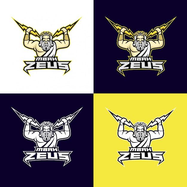Zeus god sport logo | Premium Vector