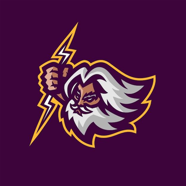 Premium Vector | Zeus gods esport gaming mascot logo template