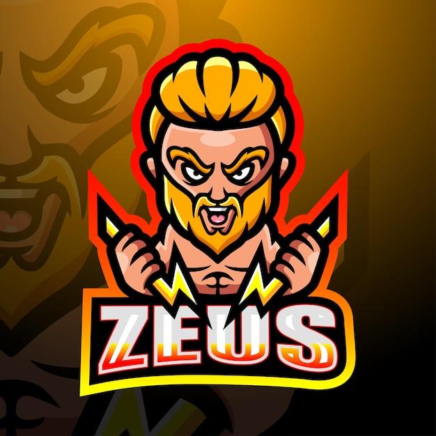 Zeus mascot esport illustration Premium Vector