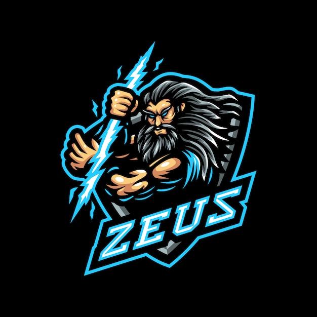 Zeus mascot logo esport gaming | Premium Vector