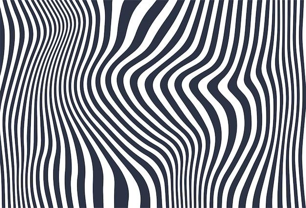 Zig zag diagonal lines wave background Free Vector