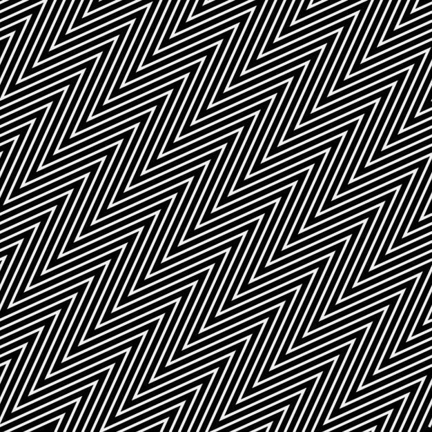 Zig zag pattern with op art style Free Vector