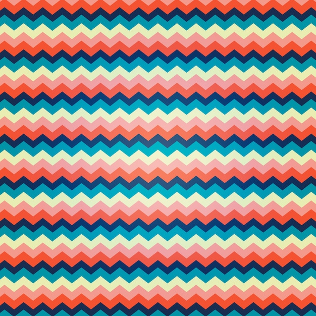 Zig zag pattern with vibrant colors Free Vector