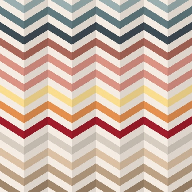 Zig Zag Stripes Pattern In Vintage Style Vector