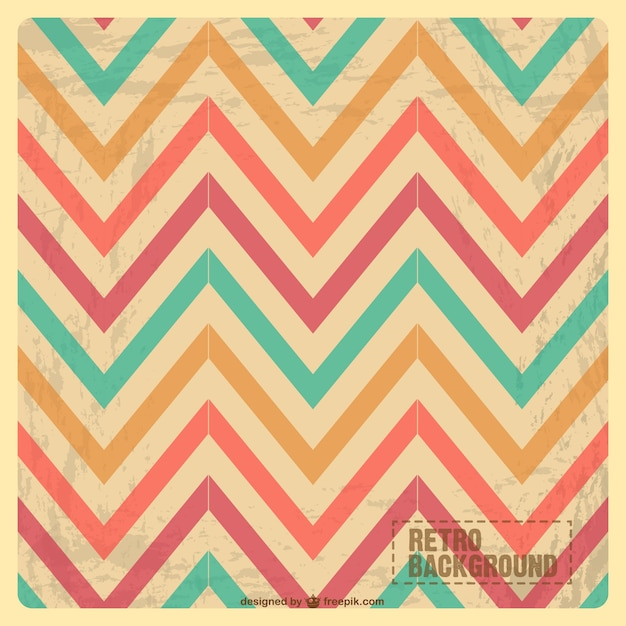 Zig zag vintage pattern Vector : Free Download