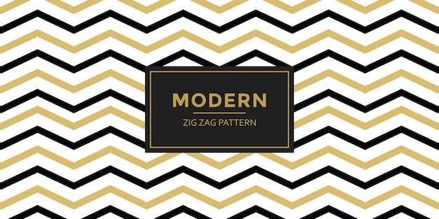 Zigzag pattern isolated on white Premium Vector