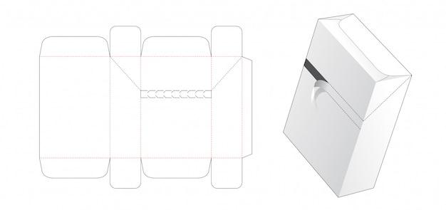Zipper box die cut template Premium Vector