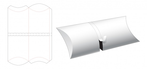 Zipper food container packaging die cut template Premium Vector