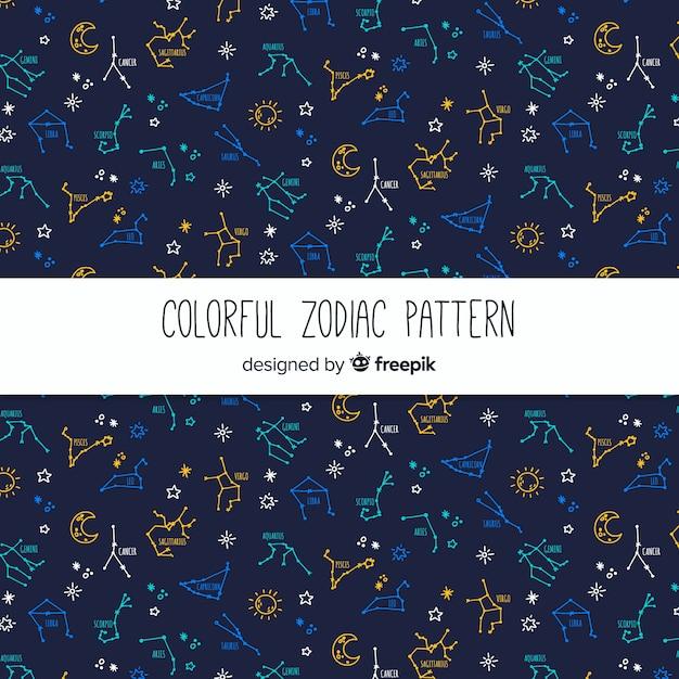 Zodiac pattern Free Vector