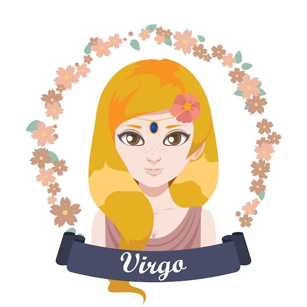 Zodiac sign illustration Premium Vector