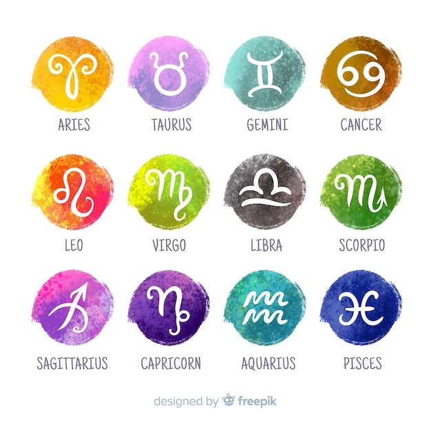 Zodiac signs Free Vector