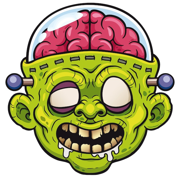 Zombie cartoon Premium Vector