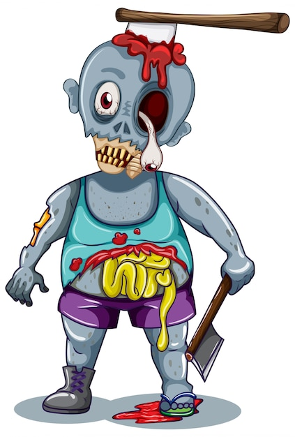 A zombie character Free Vector