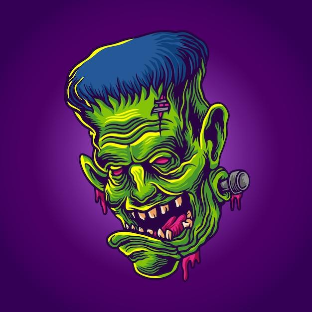 Zombie frank Premium Vector