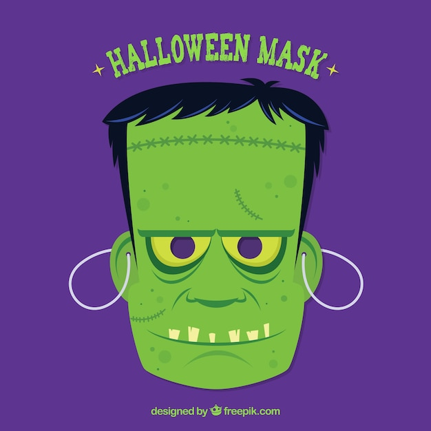 Zombie halloween mask Free Vector