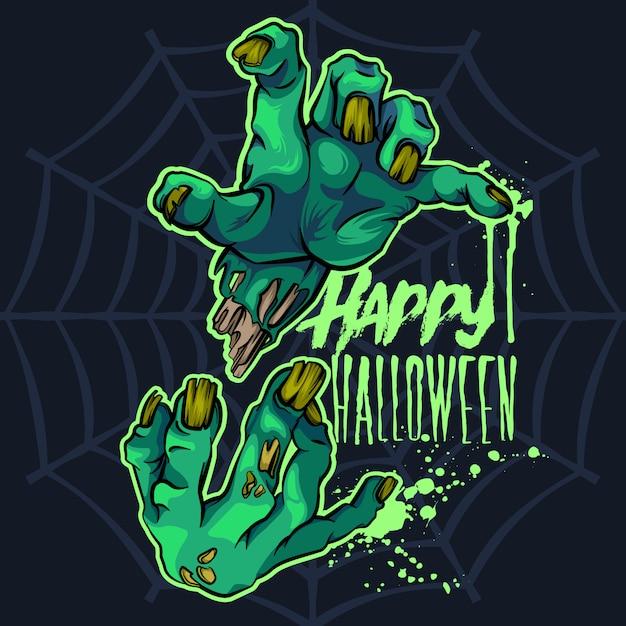 Zombie hands halloween Premium Vector