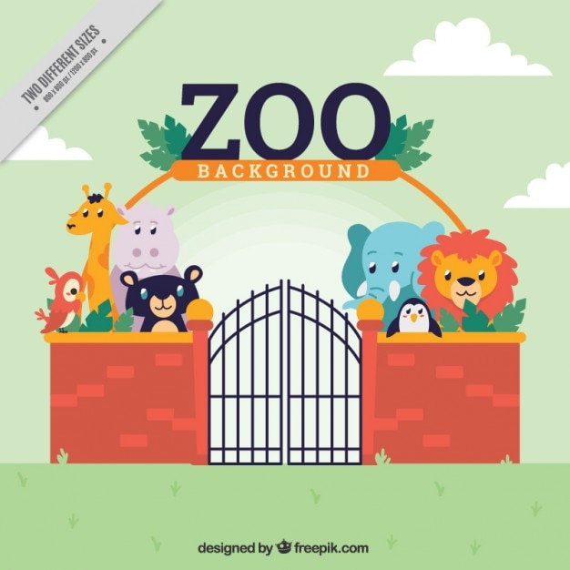 zoo background with wild animals vector free download clipart jungle animals clipart jungle animals