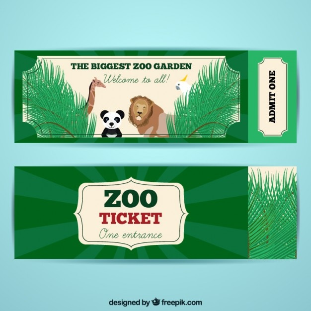 Zoo tickets with nice animals