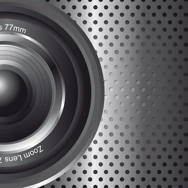 Zoom lens with space for copy background vector illustration Premium Vector