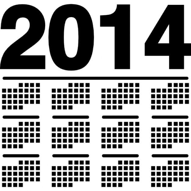 2014 Wandkalender-Variante   Download der kostenlosen Icons